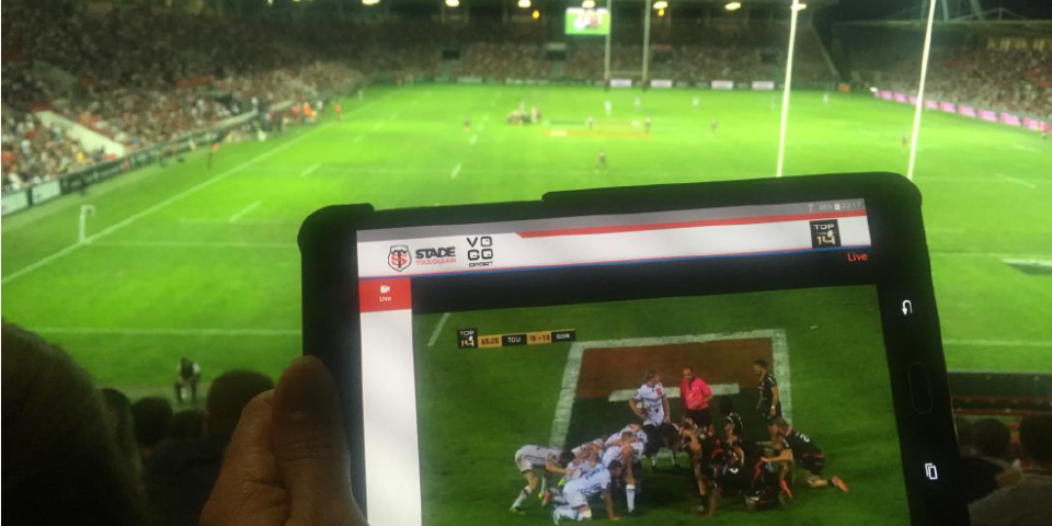 VOGO integrates VOGO SPORT app. within the Stade Toulousain official app. (Toulouse Rugby Club), starting this 2016-2017 season