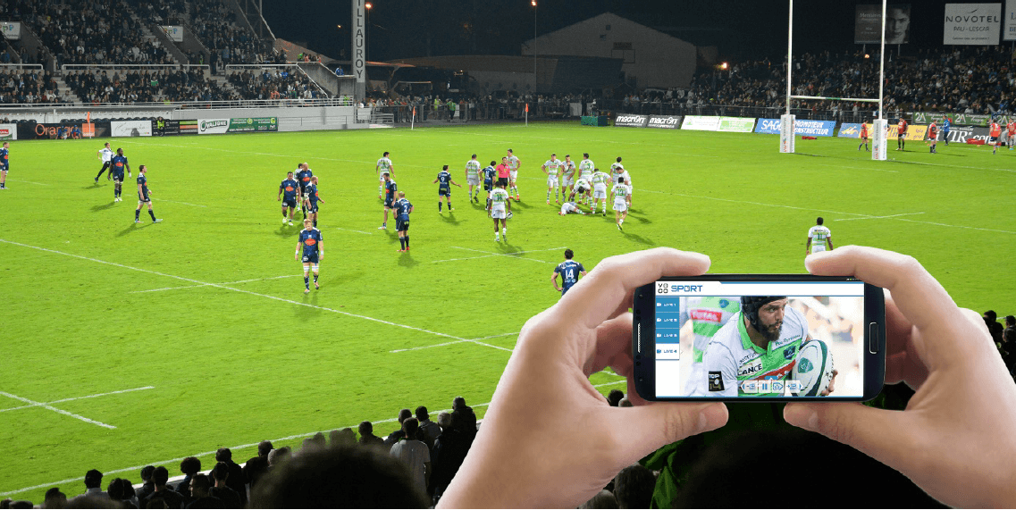 Section Paloise Béarn Pyrénées Rugby Club, TOTAL and VOGO Deploy VOGO SPORT at Stade du Hameau (Pau) – 2015/2016 Season