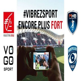 Caisse d'Epargne bank with VOGO SPORT at the MHR