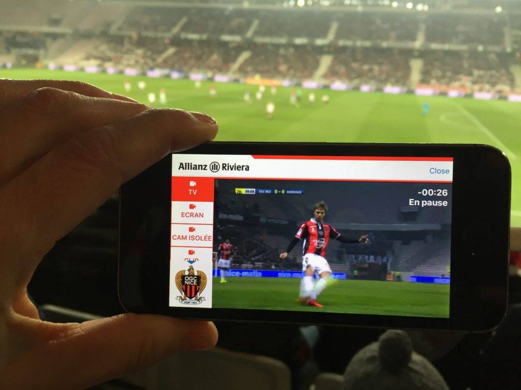 VOGO SPORT in the ALLIANZ RIVIERA STADIUM's APP.