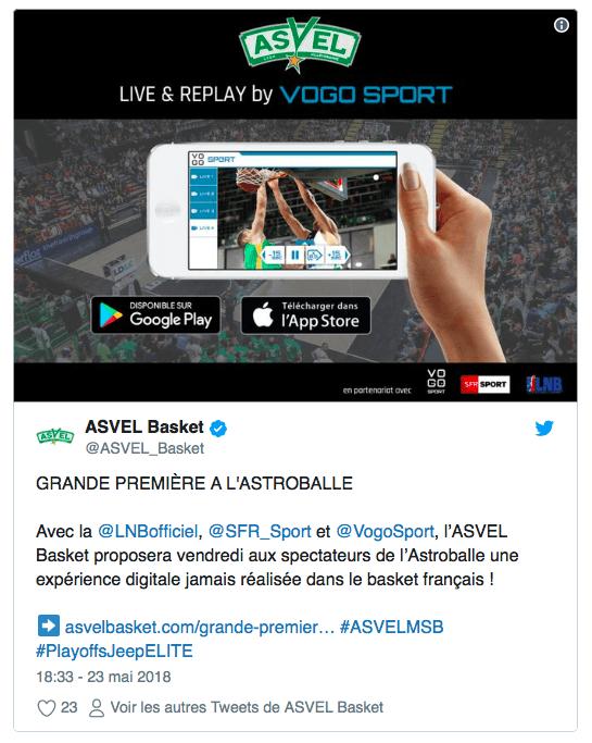 VOGO SPORT à l'Astroballe avec l'ASVEL Basket