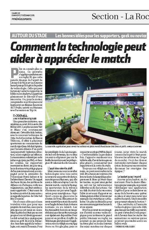 , La technologie et le sport