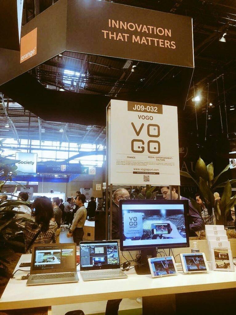 ORANGE LAB VOGO SPORT booth, Viva tech Paris 2018
