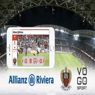 VOGO SPORT brings live video to in-venue fans of OGC Nice Soccer