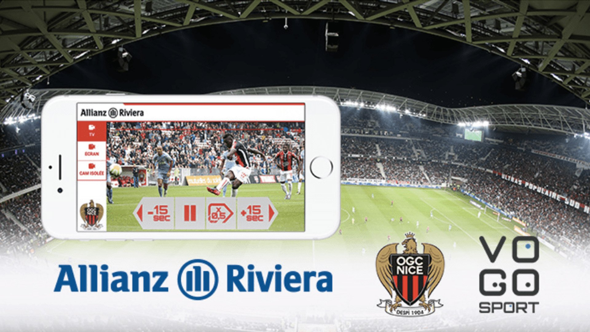 A first for VOGO SPORT with the Allianz Riviera Stadium and OGC Nice soccer