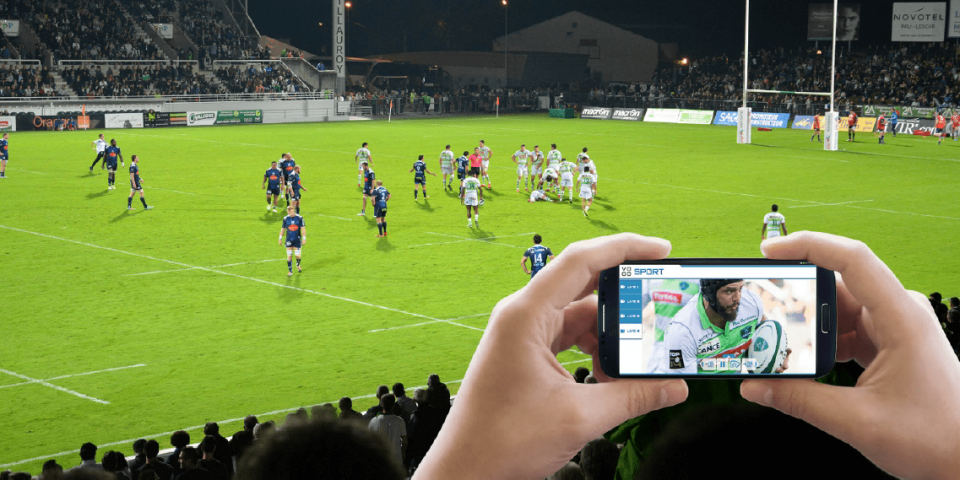 Total, la Section Paloise déploient l'application Vogo Sport – saison 2015/2016 (Stade du Hameau à Pau)