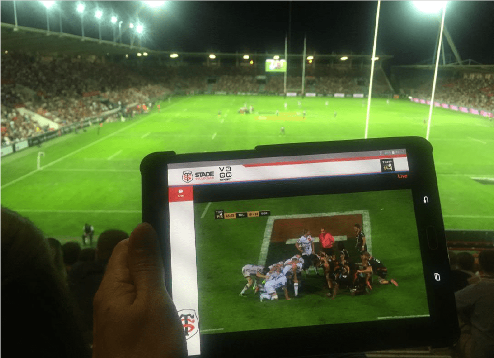 VOGO déploie sa solution VOGO SPORT au sein de l'application officielle du Stade Toulousain – saison 2016/2017