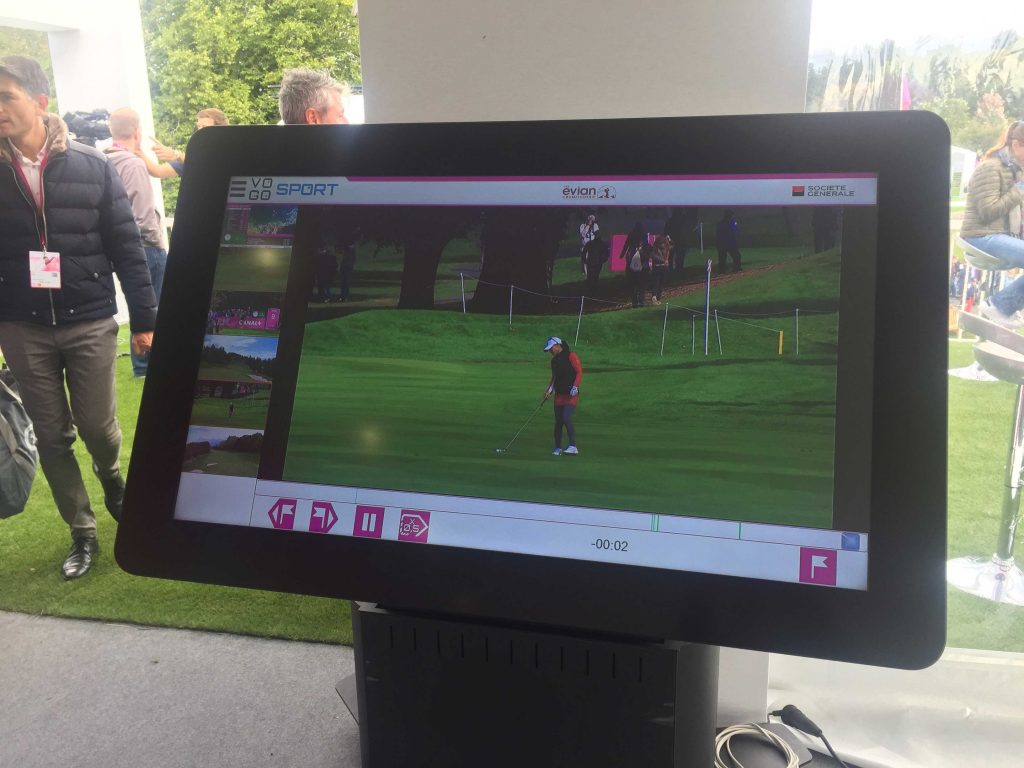 VOGO SPORT Digital Touch Screen, Evian Championship