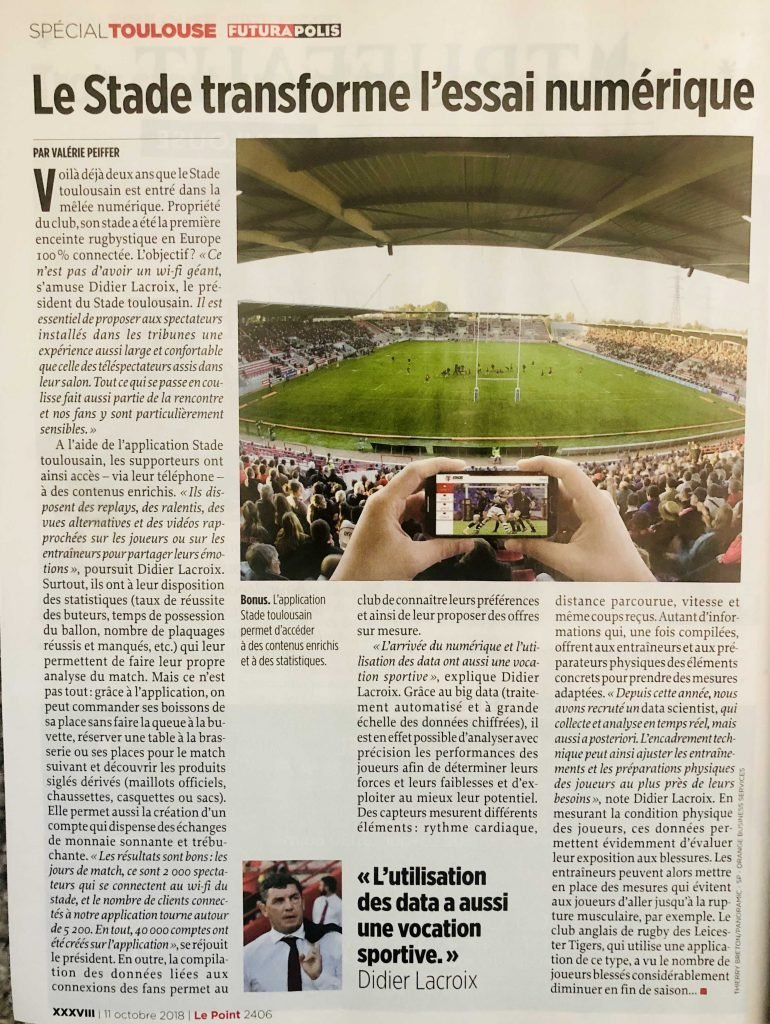 VOGO SPORT enrichit la fan experience au Stade Toulousain