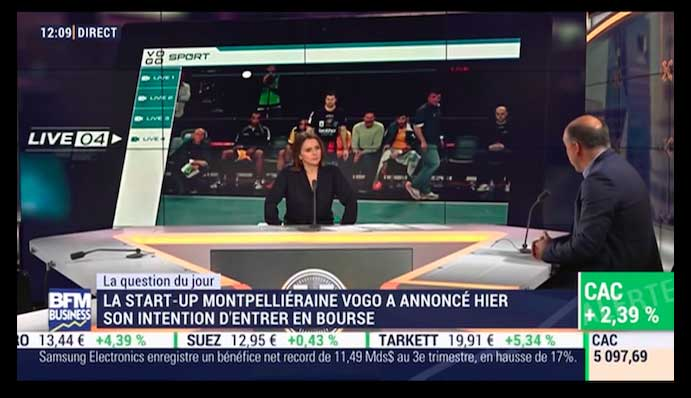 VOGO on BFMTV Business explaining its upcoming IPO project (in FR)