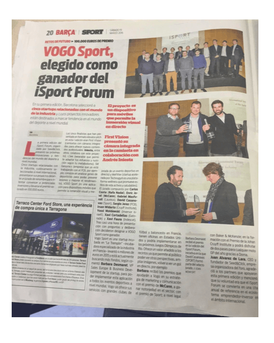 VOGO SPORT in Barça newspaper