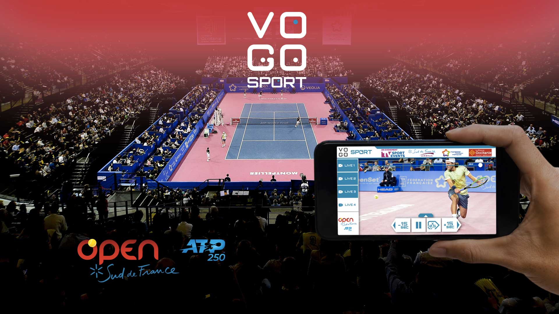VOGO à l'Open Sud de France 2019