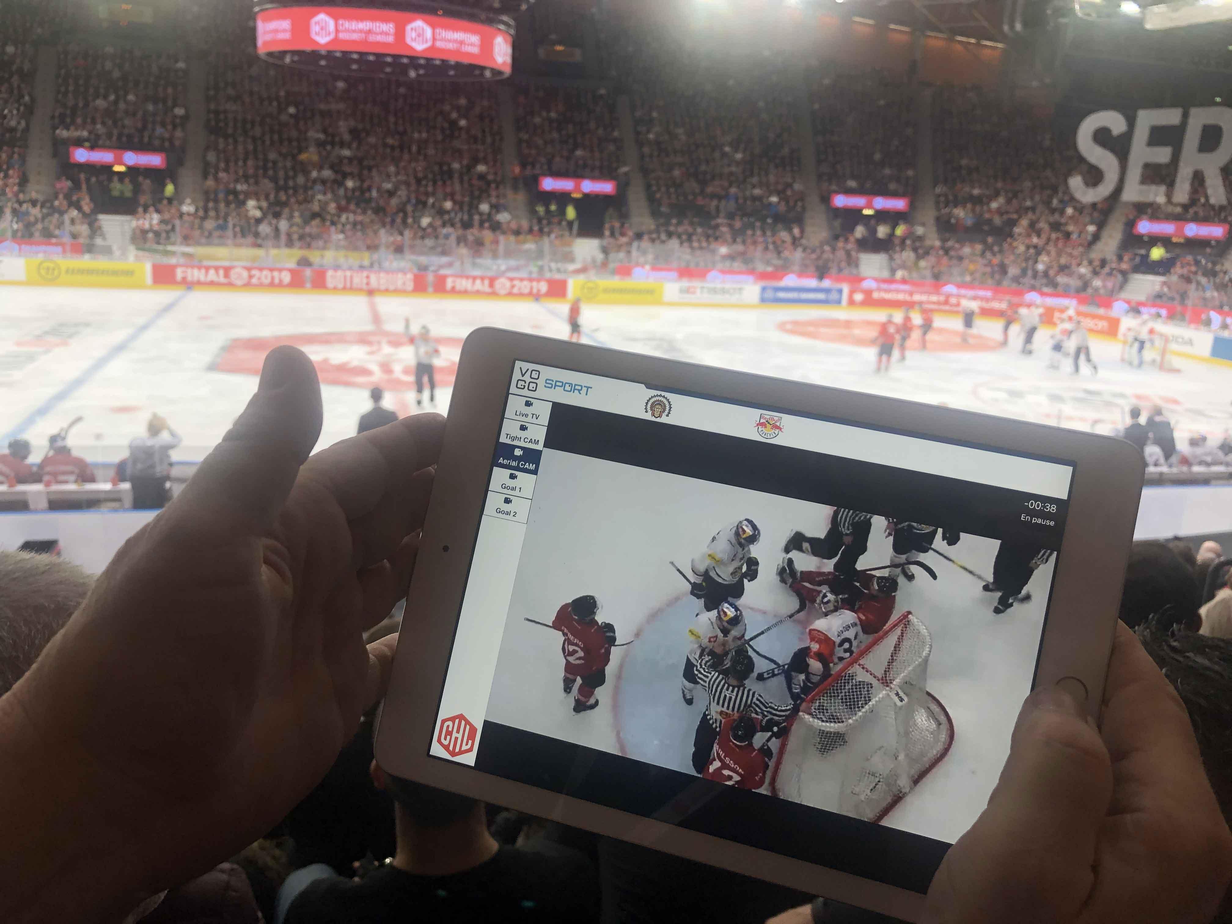 image hockey sur glace ligue chl sur tablette avec vogo group