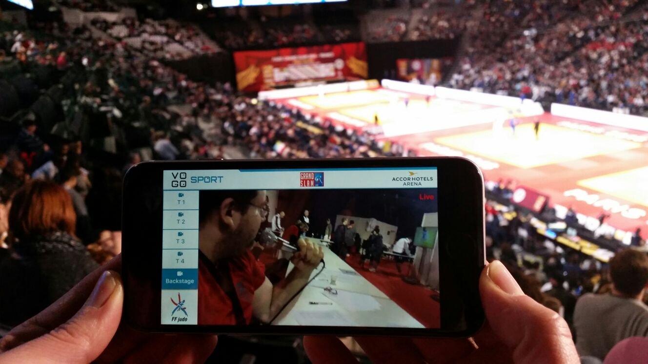 image judo grand slam 2016 sur telephone portable avec vogo