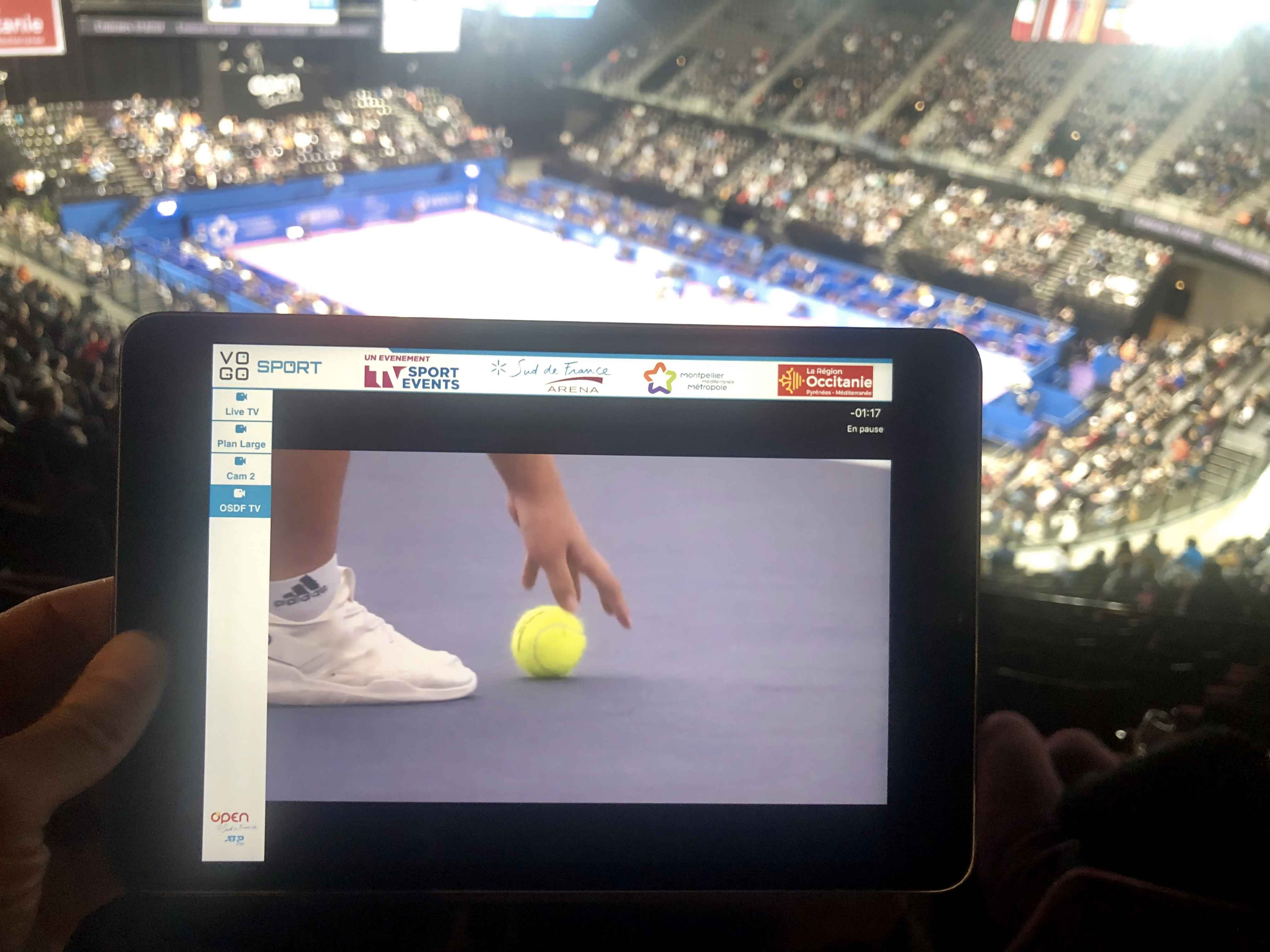 image tennis sur tablette avec la solution vogo group