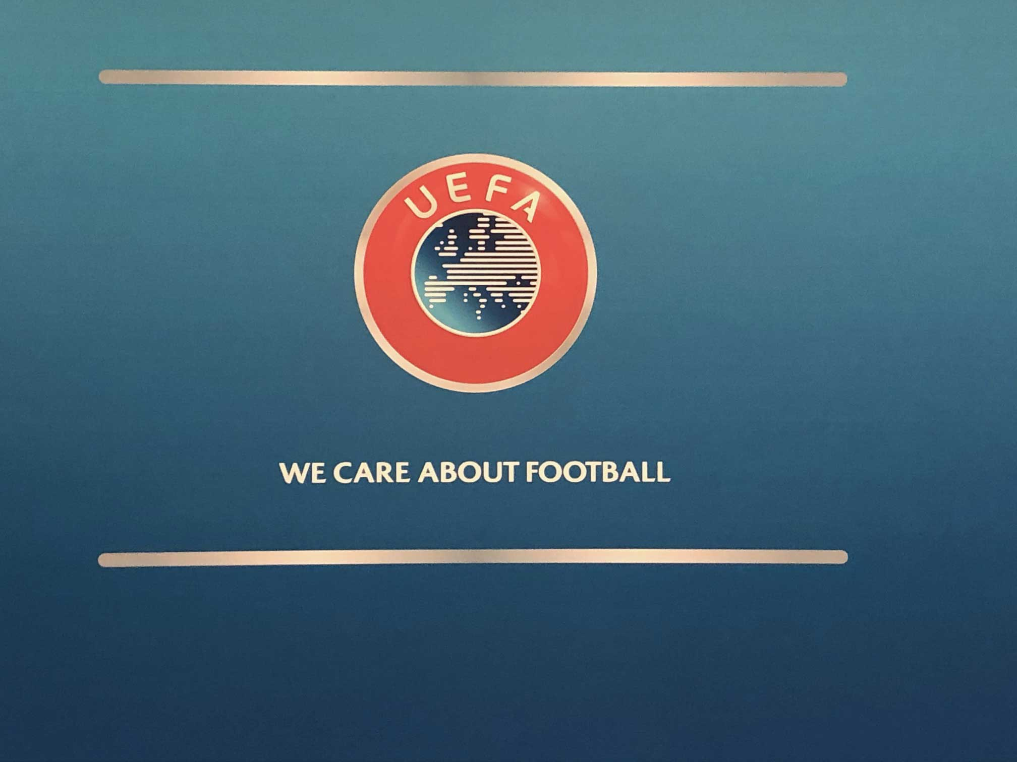 UEFA wecareaboutfootball