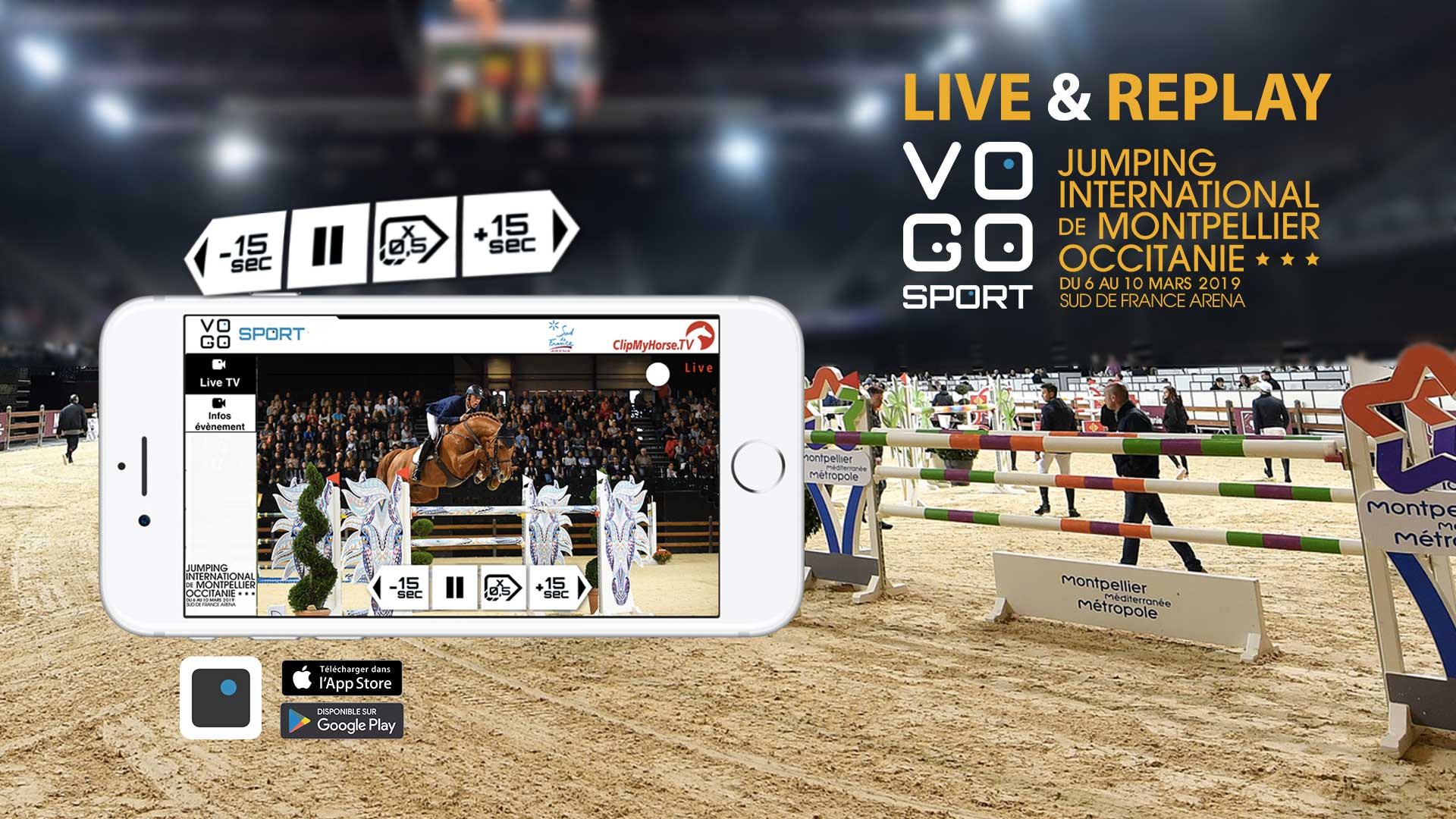 VOGO SPORT au Jumping International de Montpellier Occitanie