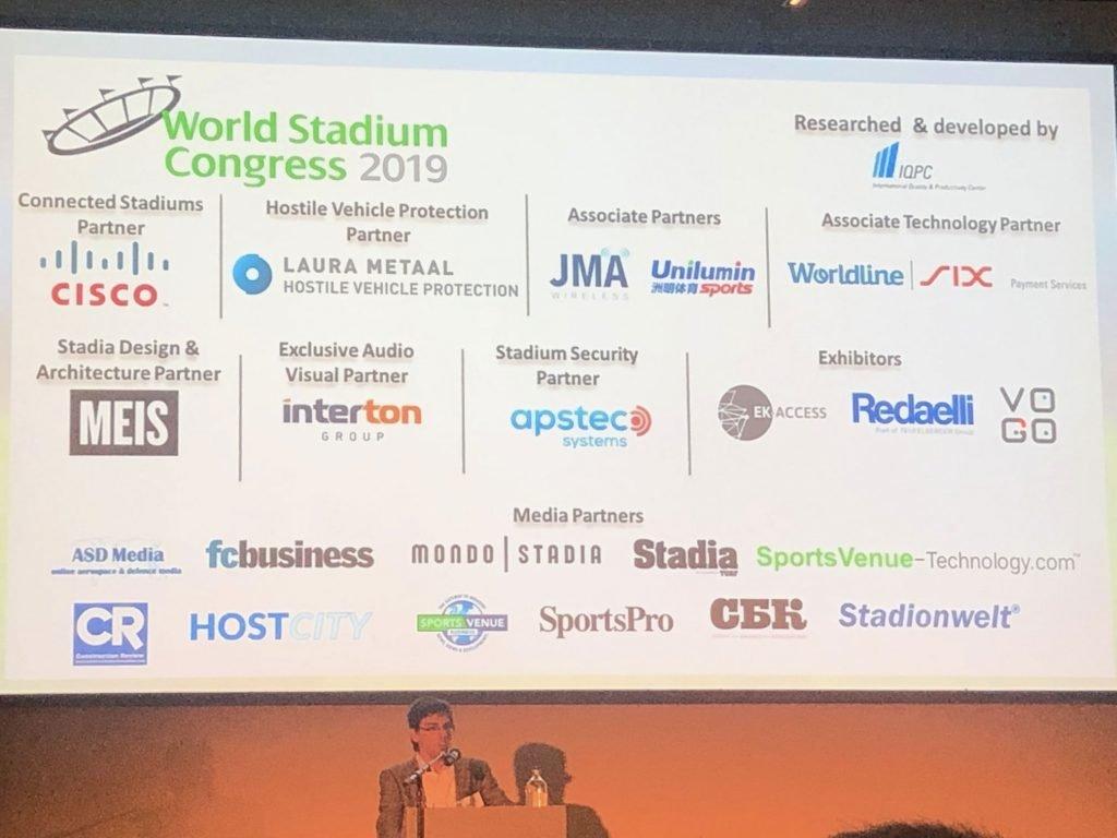 VOGO sponsor of the World Stadium Congress 2019