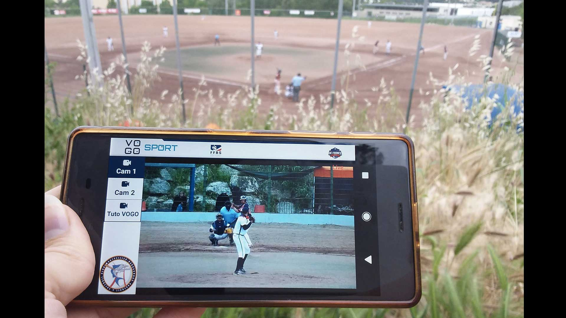 image baseball sur portable avec solution multicam vogo group