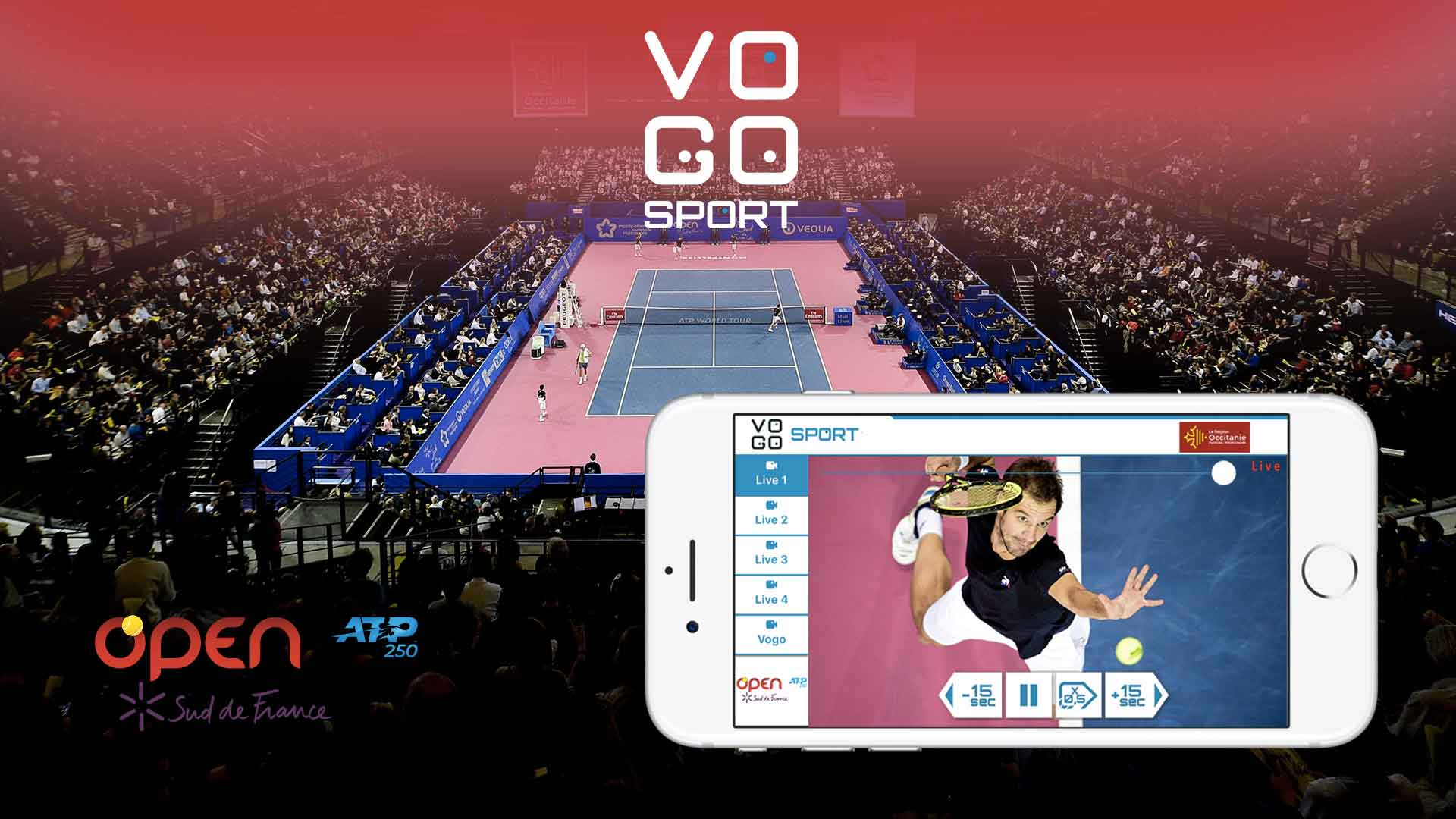 "Game, Set and Match…Live and Instant replay at ""Open Sud de France 2020""!"
