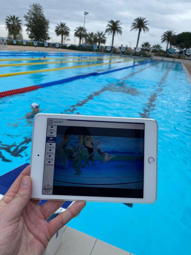 Des caméras VOGO SPORT pour l'entraînement des nageurs