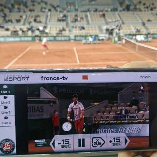 VOGOSPORT en démo innovation à Roland Garros !