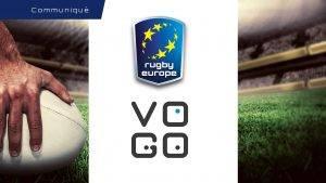 Partenariat RUGBY EUROPE et VOGO